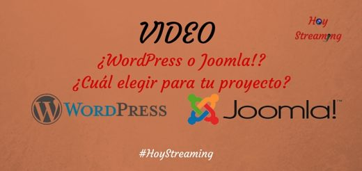 Video WordPress vs Joomla en HoyStreaming