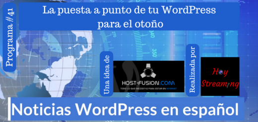 Actualizar tu WordPress programa 41 de Noticias WordPress en español