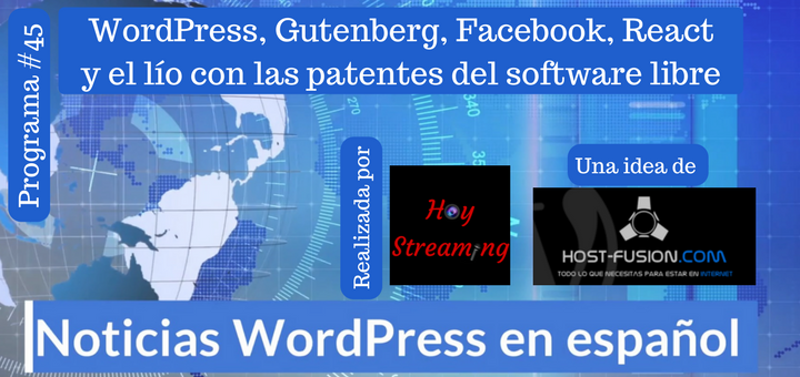 WordPress y Facebook en conflicto por la patente de React